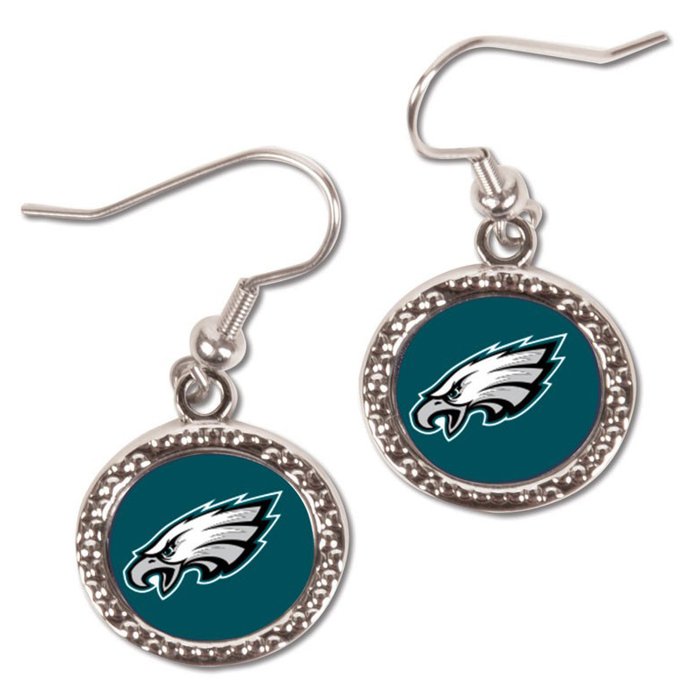 Philadelphia Eagles WinCraft Women's Round Dangle Earrings - No Size