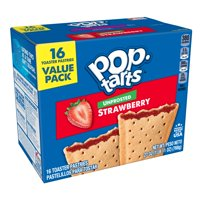 Pop-Tarts Unfrosted Strawberry, 16 Toaster Pastries