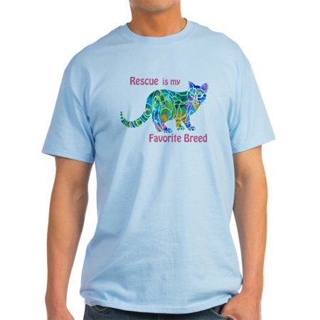 CafePress - RESCUE Is Favorite Breed CATS - Light T-Shirt - CP