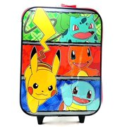 New Pikachu Pokemon Rolling Suitcase Kids/Child Travel Luggage