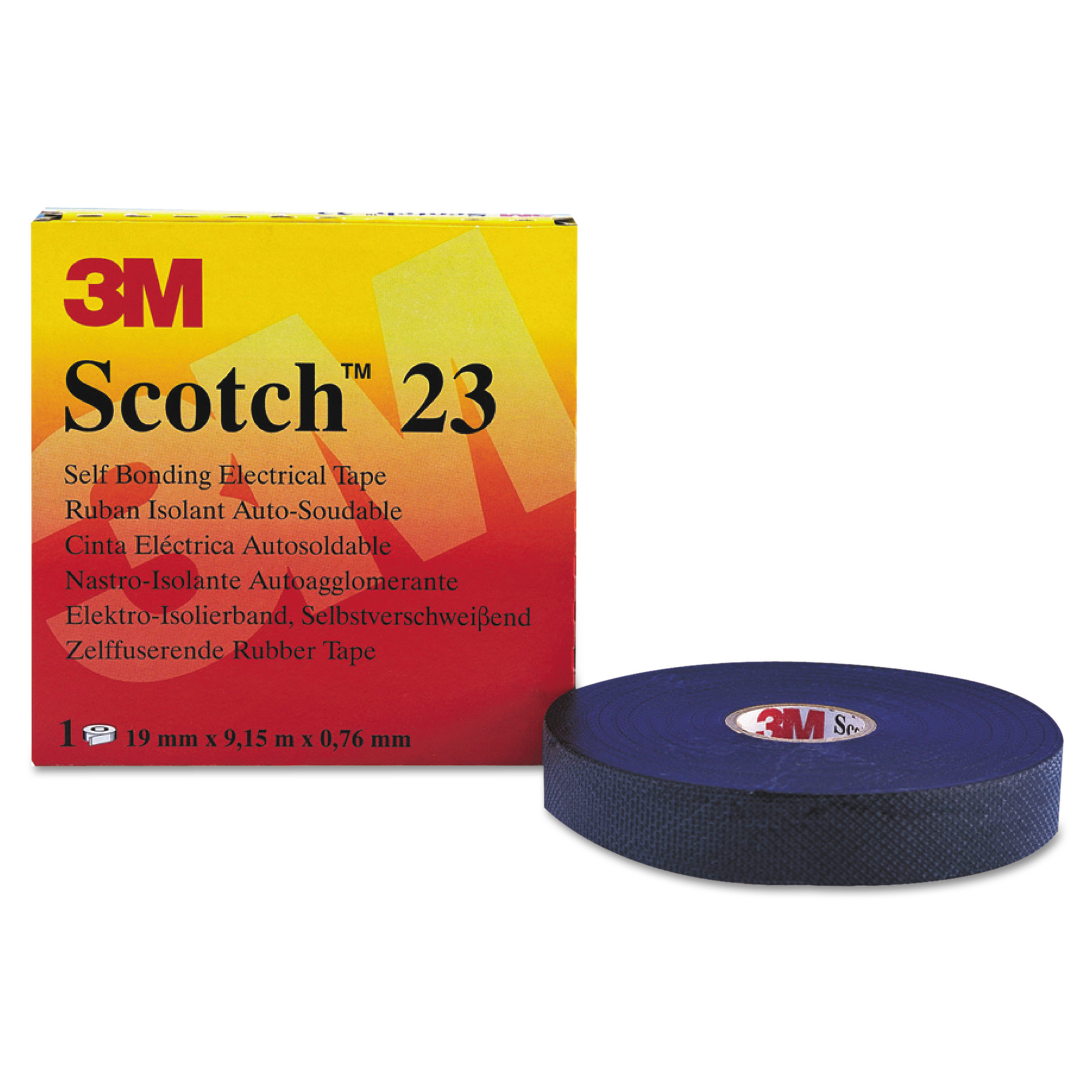 "3M Scotch 23 Rubber Splicing Tape, 3/4"" x 30ft -MMM15025"
