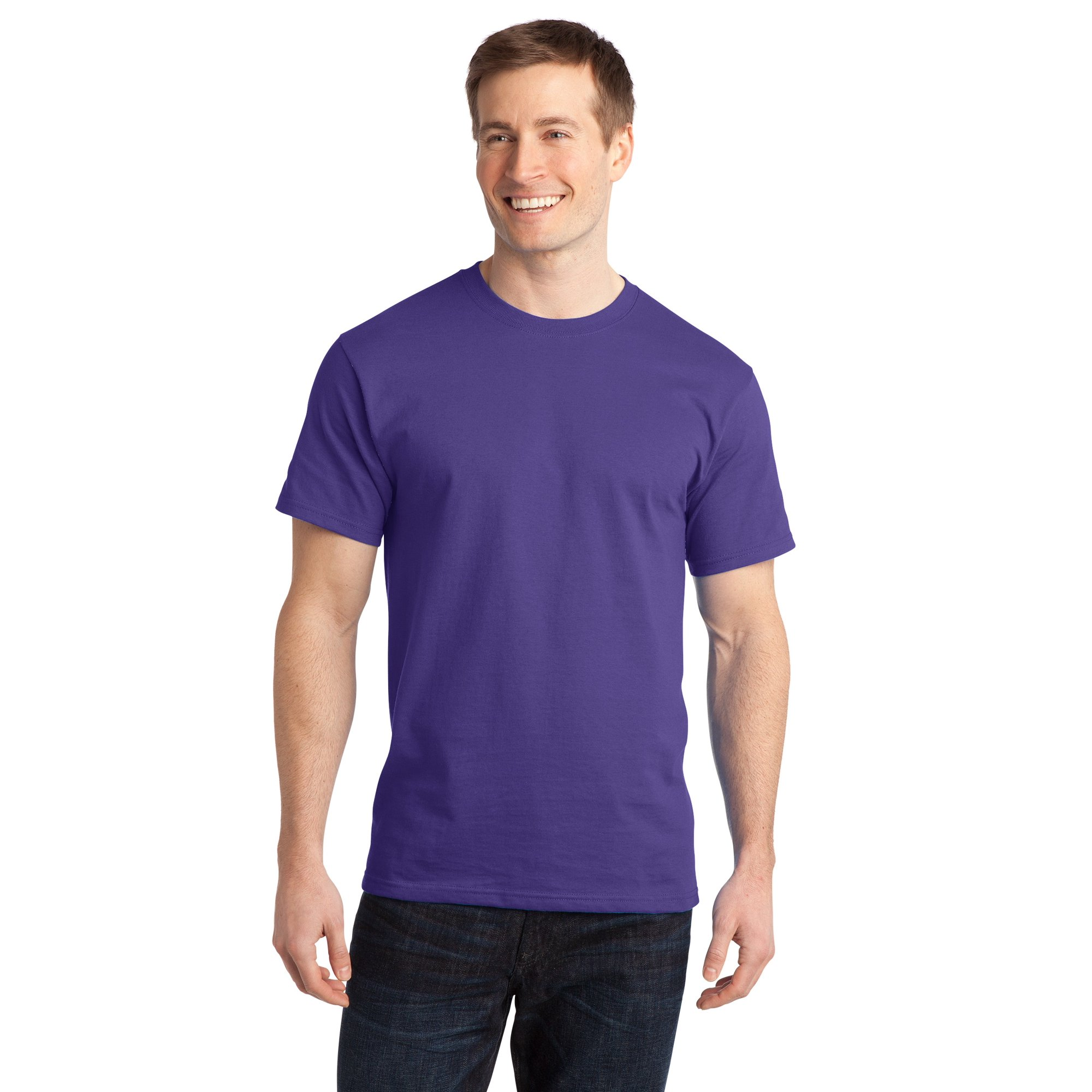 ea372fb4325be Sportoli Men s Essential Basic 100% Cotton Crew Neck Short Sleeve Long T- Shirt