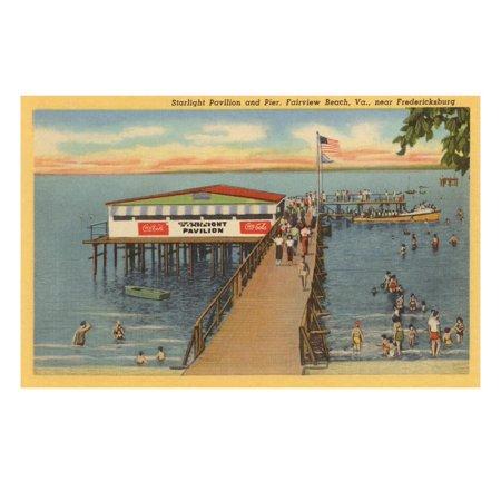 Starlight Pavilion and Pier, Fairview Beach, Virginia Print Wall (Ar 15 For Sale In Virginia Beach)