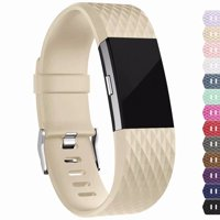 Fitbit Charge 2 Bands Replacement Sport Strap Accessories with Fasteners and Metal Clasps for Fitbit Charge 2 Wristband (Small, BrightRed)