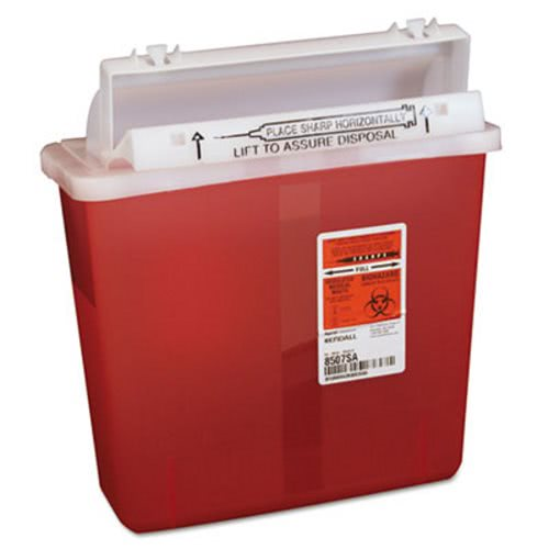 Covidien Sharps Containers, Polypropylene, 5 Qt., Red (CVDK5SS1007SA)