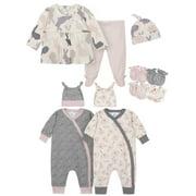 Gerber Baby Girl Bunny Baby Shower Layette Gift Set, 11-Piece