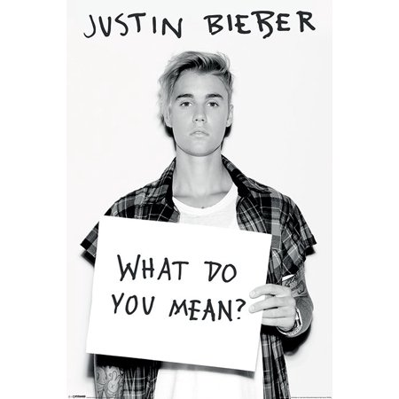 Justin Bieber - Music / Personality Poster / Print (What Do You Mean?) (Size: 24