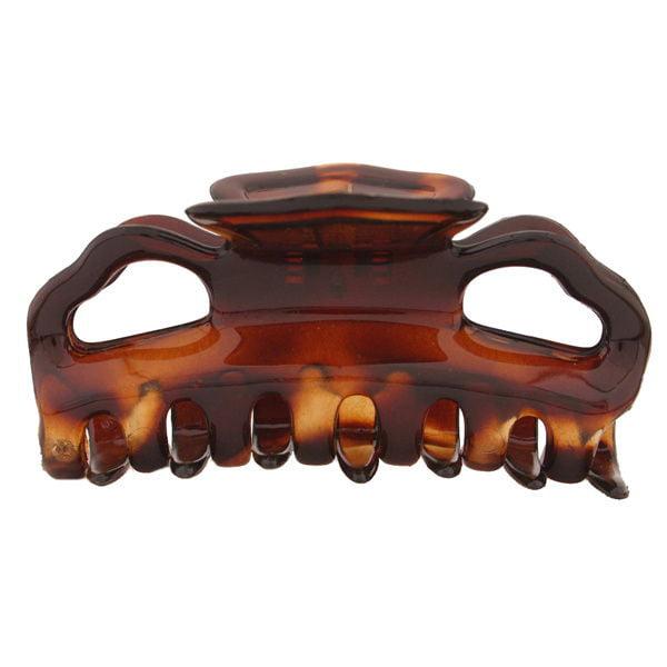 Caravan Flat Teeth Hair Claw Tortoise Shell Model No. 748