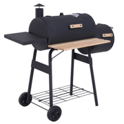 "Best Charcoal Grills Smokers - 48"" Steel Portable Backyard Charcoal BBQ Grill Review"
