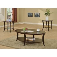 Roundhill Furniture Perth 3 Piece Accent Table Set