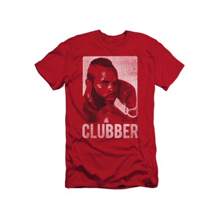 Rocky III Boxing Action Drama Movie Clubber Lang Headshot Adult Slim T-Shirt - Rocky 3 Clubber Lang
