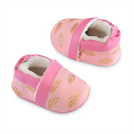 Image of Child of Mine by Carter's Newborn Baby Girl Princess Shoes, NB