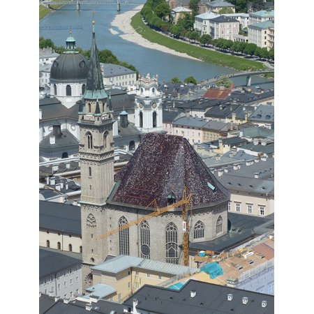 - LAMINATED POSTER Franciscan Church Salzburg Church Old Town Poster 24x16 Adhesive Decal