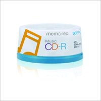 Memorex 15404001 Music CD-R DA, 80 Minute, 700 MB 40x ( 30-Pack Spindle) (Discontinued by Manufacturer)