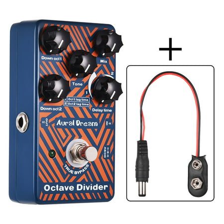 Polyphonic Octave Guitar Effect Pedal Aluminum Alloy Shell True
