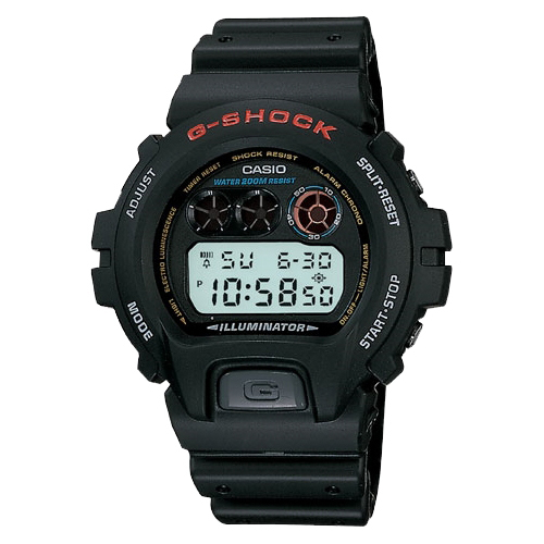 Casio Men's G-Shock Stainless Steel Digital Watch, Black Resin Strap