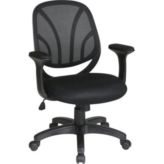 Avenue 6 Office Star EM20522-3 Screen Back, Mesh Seat Managers Chair with Mesh Fabric Padded -T- Arms