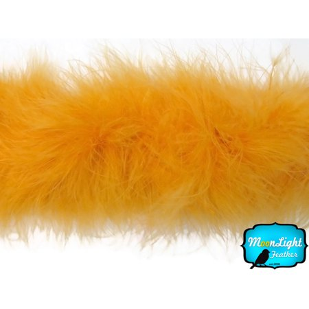 2 Yards - Golden Yellow Marabou Feather Boa 25 Gram