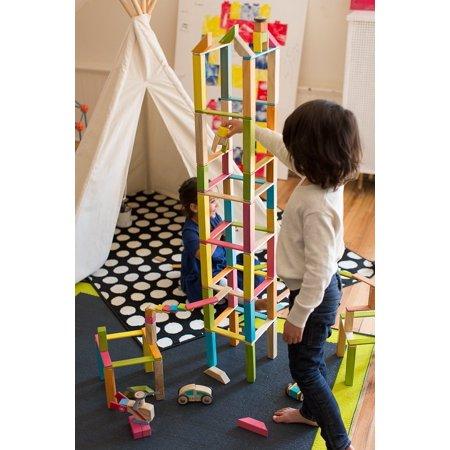 240 Piece Tegu Classroom Magnetic Wooden Block Set, Tints - image 4 of 5