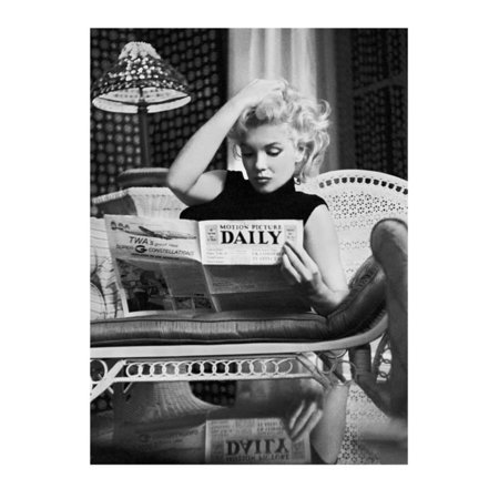 Marilyn Monroe Reading Motion Picture Daily, New York, c.1955 Art Print  By Ed F