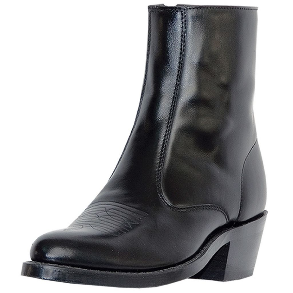 Laredo Western Boots Mens Leather Long Haul Zip Side Black 62001 by Laredo