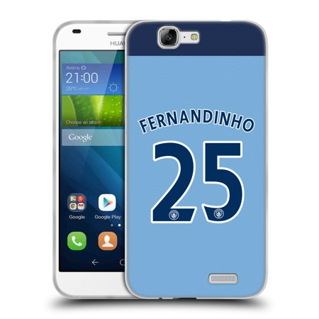 Official Manchester City Man City Fc Player Home Kit 2016 17 Group 2 Soft Gel Case For Huawei Phones