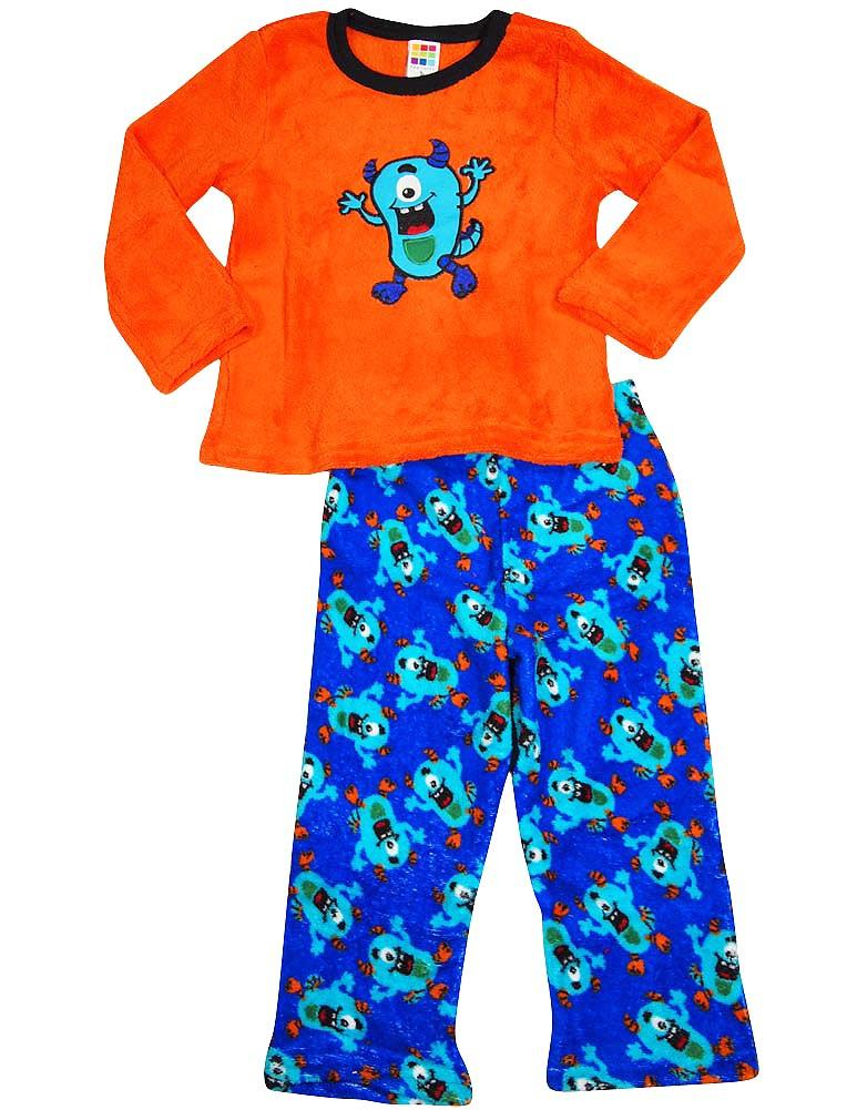 Healthtex - Baby Boys Long Sleeve Monster Pajama Set ACID YELLOW / 12 Months