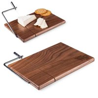 Picnic Time 857-00-510-613-0 Wake Forest University Demon Deacons Engraved Cutting Board & Cheese Slicer, Natural