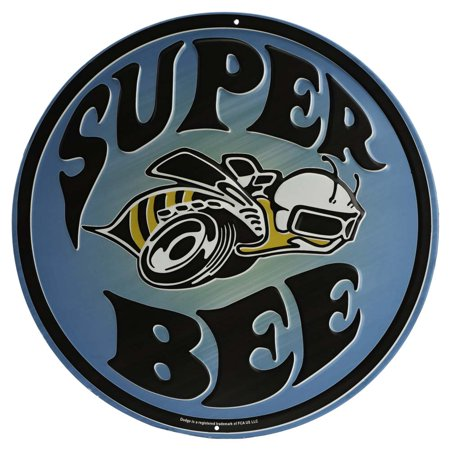 Super Bee Embossed Metal Sign