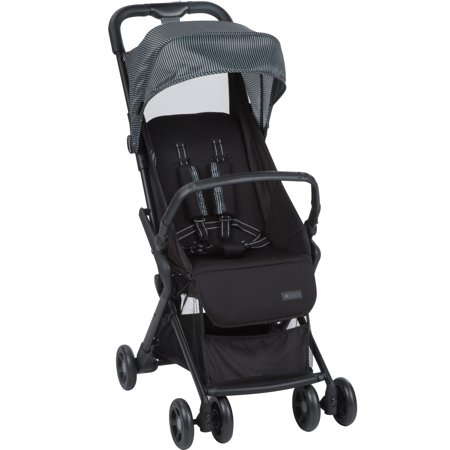 Monbebe Cube Compact Stroller, Gray and Black Pinstripe