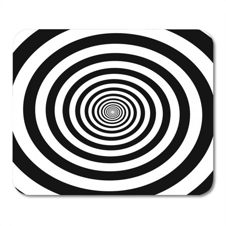 SIDONKU Hypnotic Circles Abstract Optical Spiral Swirl Hypnotize Circular Pattern of Black and White Rotating Mousepad Mouse Pad Mouse Mat 9x10 inch - Hypnotizing Swirl