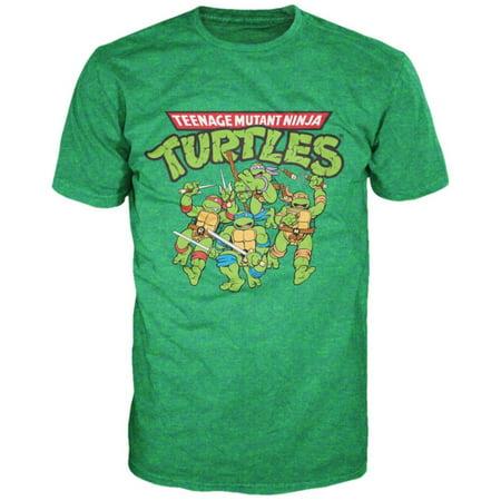 Teenage mutant ninja turtles tmnt group apparel t shirt for Green turtle t shirts review