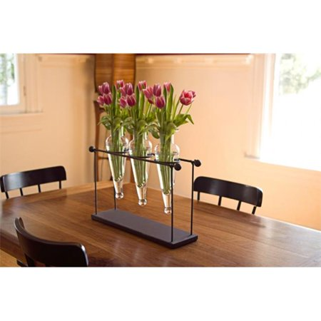 Triple Flower Vase on Rustic Metal Stand - image 1 of 1