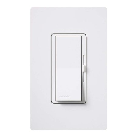 Diva C.L Dimmer Switch for Dimmable LED, Halogen and Incandescent Bulbs, with Wallplate, Single-Pole or 3-Way, DVWCL-153PH-WH, White, Provides the best dimming.., By
