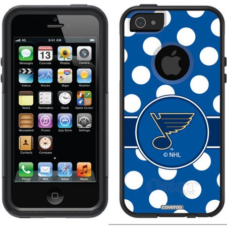 St  Louis Blues Polka Dots Design On Otterbox Commuter Series Case For Apple Iphone 5 5S