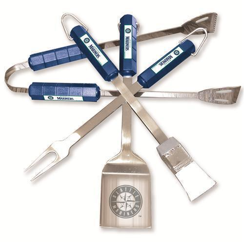Seattle Mariners 4 Pc Bbq Set  - MLB Licensed #05125