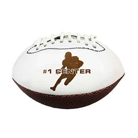 Position 3D Laser Engraved Miniature Toy 7 inch Football (Center) - Football Center Pieces
