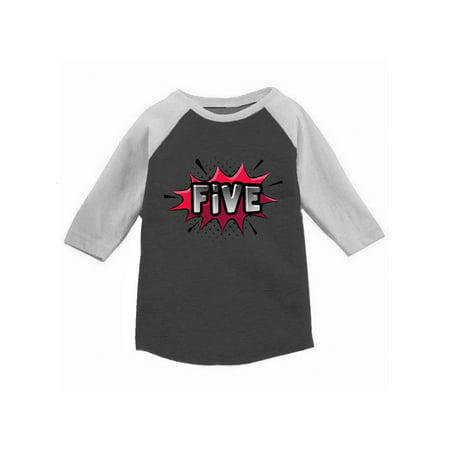 Awkward Styles 5th Birthday Raglan Shirt Boy Gift For 5 Year Old Kids Girl Baseball Tee Youth