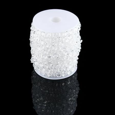 Akozon 99Ft 30M Garland Diamond Acrylic Crystal Bead Curtain Wedding Party DIY Decor