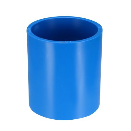 Straight 2 Pvc Coupling (50mm Straight PVC Pipe Fitting Coupling Adapter Connector Blue, 2 Pcs )
