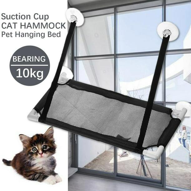 Cat Bed Foam Cushion Pet Cat Window Seat Perch Cat Perch Window Hammock Bed Pet Cat Seat Hammock Pet Resting Seat Safety Cat Shelves Sunbath Gray