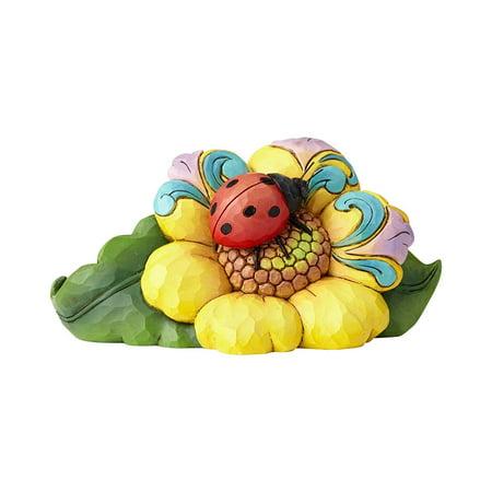 Jim Shore Heartwood Creek Mini Ladybug on Flower, From Enesco's jim shore heartwood creek collection By Enesco