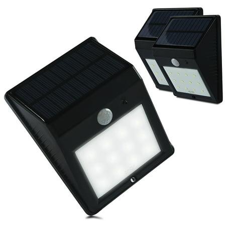 Etoplighting 3 Pack Pir Motion Sensor Solar Outdoor Led Security Wall Light For