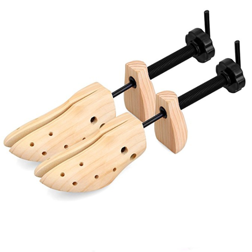 Professional Shaper Tree Adjustable Shoe Stretcher 2 Way Wood & Metal