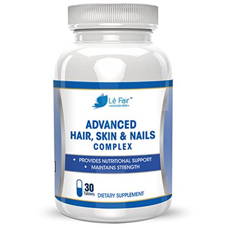 (Hair Skin Nails Advanced Formula - Contains Biotin, Bamboo Extract, MSM, and Green Tea Extract to Promote Hair Growth, Nail Growth, Eyelash Growth, and Skin Health - All Natural Formula)