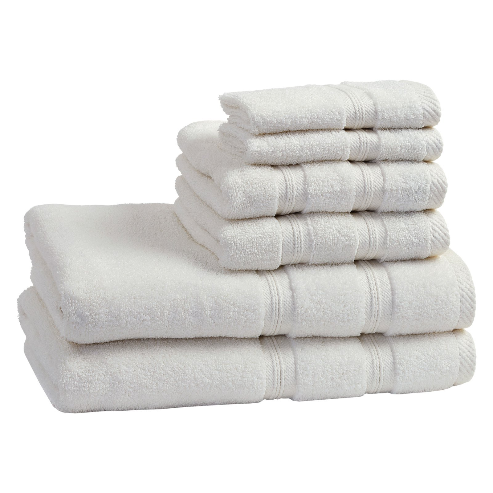 Superior Super Soft and Absorbent 100% Cotton Zero Twist Smart Dry 6PC Towel Set by Superior