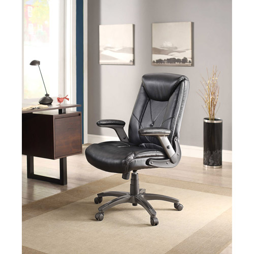 Whalen Chelsen Button Leather Managers Chair, Black