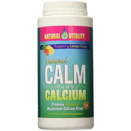 Natural Vitality Natural Calm Magnesium Plus Calcium, Powder, Raspberry Lemon, 16 FL