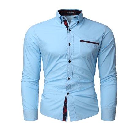 Mens Casual Long Sleeve Buttons Business Dress Shirts ()