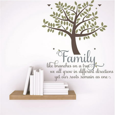 One Tree Hill Halloween Quotes (Custom Wall Decal Vinyl Sticker : Family like branches on a tree we all grow in different directions yet our roots remain as one. Quote)